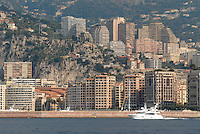 - Principality of Monaco, the city of Montecarlo view from the sea....- principato di Monaco, la città di Montecarlo vista dal mare