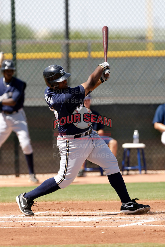 Corey Kemp - Milwaukee Brewers 2009 Instructional League.Photo by:  Bill Mitchell/Four Seam Images..