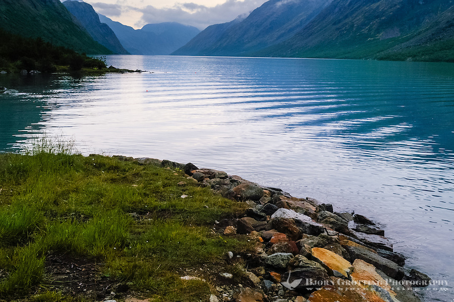 Norway, Jotunheimen. Gjende Lake.