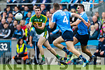 Kevin McCarthy Kerry in action against  Dublin at the National League Final in Croke Park on Sunday.