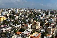 Vista de la Ciudad de Santo Domingo desde el Banco Central hoy, miécoles 30 de diciembre  de 2009..Santo Domingo, Republica Dominicana.Foto : © Roberto Guzman