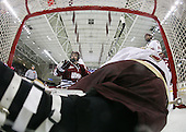 Kevin Czepiel (UMass - 3), John Muse (BC - 1), Chris Kreider (BC - 19) - The Boston College Eagles defeated the University of Massachusetts-Amherst Minutemen 5-2 on Saturday, March 13, 2010, at Conte Forum in Chestnut Hill, Massachusetts, to sweep their Hockey East Quarterfinals matchup.