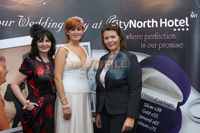 Dara Caffrey (Frilly Frocks), Rebecca Sexton and Ladonna Tallon at the City North Wedding Fair..Picture Jenny Matthews/Newsfile.ie