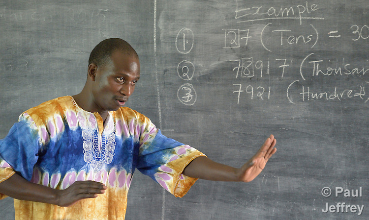Simon Peter Odongo teaches a class at the Solidarity Teacher Training College in Yambio, South Sudan. Run by Solidarity with South Sudan, an international network of Catholic organizations supporting the development of the world's newest country, the College trains teachers from throughout the nation. Odongo is a member of the Christian Brothers.