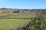 Farmhouses and fields Cape Clear Island, County Cork, Ireland, Irish Republic