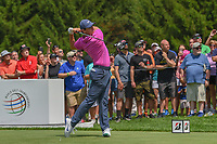 Rory McIlroy (NIR) watches his tee shot on 4 during 2nd round of the World Golf Championships - Bridgestone Invitational, at the Firestone Country Club, Akron, Ohio. 8/3/2018.<br /> Picture: Golffile | Ken Murray<br /> <br /> <br /> All photo usage must carry mandatory copyright credit (&copy; Golffile | Ken Murray)