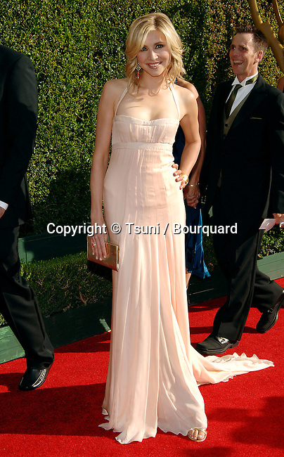 Sarah Chalke at the Creative Emmys Awards at the Shrine Auditorium in Los Angeles. September 11, 2005.