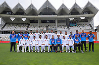 The Bangladesh team pose for a team photo during day four of the international cricket match between NZ Black Caps and Bangladesh at the Basin Reserve in Wellington, New Zealand on Monday, 11 March 2019. Photo: Dave Lintott / lintottphoto.co.nz
