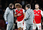 David Luiz of Arsenal receives treatment during the UEFA Europa League match at the Emirates Stadium, London. Picture date: 28th November 2019. Picture credit should read: David Klein/Sportimage