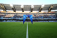 banner LEGA SERIE A view of San Paolo stadium <br /> Napoli 19-10-2019 Stadio San Paolo <br /> Football Serie A 2019/2020 <br /> SSC Napoli - Hellas Verona FC<br /> Photo Cesare Purini / Insidefoto