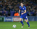 Leicester's Andy King in action during the Champions League group B match at the King Power Stadium, Leicester. Picture date November 22nd, 2016 Pic David Klein/Sportimage