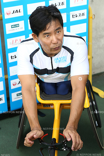 Yoshiaki Nagao,<br /> JULY 19, 2015 - Athletics :<br /> Japan Para Athletics Championships,<br /> Men's T54 400m Final<br /> at Yanmar Stadium Nagai, Osaka, Japan. <br /> (Photo by Shingo Ito/AFLO SPORT)