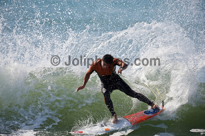 MICKY PICON (FRA) surfing at Hossegor in the South West region of France. Photo: joliphotos.com