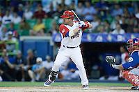 7 March 2009: #12 Ramon Vasquez of Puerto Rico is seen at bat during the 2009 World Baseball Classic Pool D match at Hiram Bithorn Stadium in San Juan, Puerto Rico. Puerto Rico wins 7-0 over Panama.