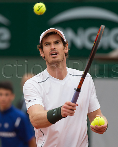 01.06.2016. Roland Garros, Paris, France, French Open tennis championships, day 11.  Andy Murray (GBR)  during his win over (Gasquet (fra)