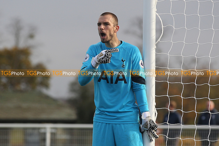 Pau Lopez of Tottenham during Tottenham Hotspur Under-23 vs Arsenal Under-23, Premier League 2 Football at Tottenham Hotspur Training Centre on 18th November 2016