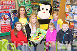 STORY TIME: Deborah Tobin author of Bee the Book in aid Bee for 4 Battens reading the for Easons Story Time at Easons, Tralee on Saturday seated l-r: Megan Qurike, Sinead Boyle, Aobh Culloty and Gavin Deasy. Back l-r: Deborah Tobin, Maggie Tobin and Fuzzy the Buzzy Bee.