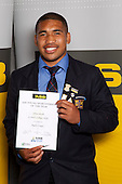 Rugby League Boys winner Siliva Havili from St Pauls College. ASB College Sport Young Sportsperson of the Year Awards held at Eden Park, Auckland, on November 11th 2010.