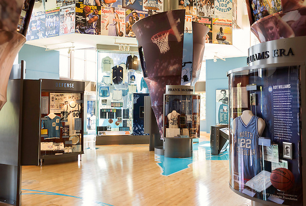 May 8, 2015. Chapel Hill, North Carolina.<br />  The Carolina Basketball Museum, located near the Dean Dome, holds a wide variety of UNC basketball memorabilia and historical videos. <br />  Outsiders tend to lump Chapel Hill with nearby Durham, but the more sensible pairing is with Carrboro, the adjacent town that was once a mere offshoot known as West End. Even today the transition from Chapel Hill, anchored by North Carolina''s flagship public university, into downtown Carrboro is virtually seamless.