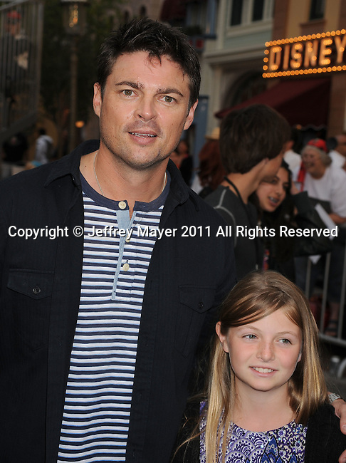 """ANAHEIM, CA - MAY 07: Karl Urban arrives to the """"Pirates Of The Caribbean: On Stranger Tides"""" World Premiere at Disneyland on May 7, 2011 in Anaheim, California."""