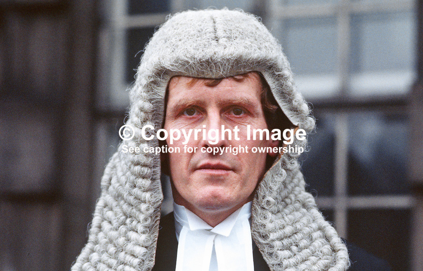 Patrick Coghlin, QC, barrister, N Ireland, UK, 19850003PC.<br /> <br /> Copyright Image from Victor Patterson, 54 Dorchester Park, Belfast, UK, BT9 6RJ<br /> <br /> t1: +44 28 9066 1296 (from Rep of Ireland 048 9066 1296)<br /> t2: +44 28 9002 2446 (from Rep of Ireland 048 9002 2446)<br /> m: +44 7802 353836<br /> <br /> e1: victorpatterson@me.com<br /> e2: victorpatterson@gmail.com<br /> <br /> The use of my copyright images is subject to my Terms &amp; Conditions.<br /> <br /> It is IMPORTANT that you familiarise yourself with them. They are available on my website at www.victorpatterson.com.<br /> <br /> None of my copyright images may be used on a website unless they are visibly watermarked, i.e. &copy; Victor Patterson within the body of the visible image. Metadata denoting my copyright must NOT be deleted. <br /> <br /> Web use is extra at currently recommended NUJ rates.