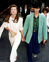 Paulina PorizKova &amp; Rick Ocasek 1992<br /> Photo By John Barrett-PHOTOlink.net / MediaPunch