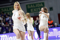Real Madrid's cheerleaders during Euroleague match.January 22,2015. (ALTERPHOTOS/Acero) /NortePhoto<br />