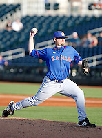 Cameron Selik - 2009 Kansas Jayhawks pitching against the Arizona State Sun Devils at Surprise Stadium - 03/15/2009.Photo by:  Bill Mitchell/Four Seam Images..