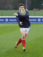 Dan Newton of London Scottish Football Club  warms up ahead of their fixture with Ealing Trailfinders in the Greene King IPA Championship match between London Scottish Football Club and Ealing Trailfinders at Richmond Athletic Ground, Richmond, United Kingdom on 26 December 2015. Photo by Alan  Stanford / PRiME Media Images