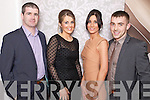 Pictured at the Kerins ORahillys social in the Earl of Desmond Hotel on Saturday night, from left: Mark Fitzgerald, Ciara Fitzgerald, Alison Maguire and Danny OSullivan.