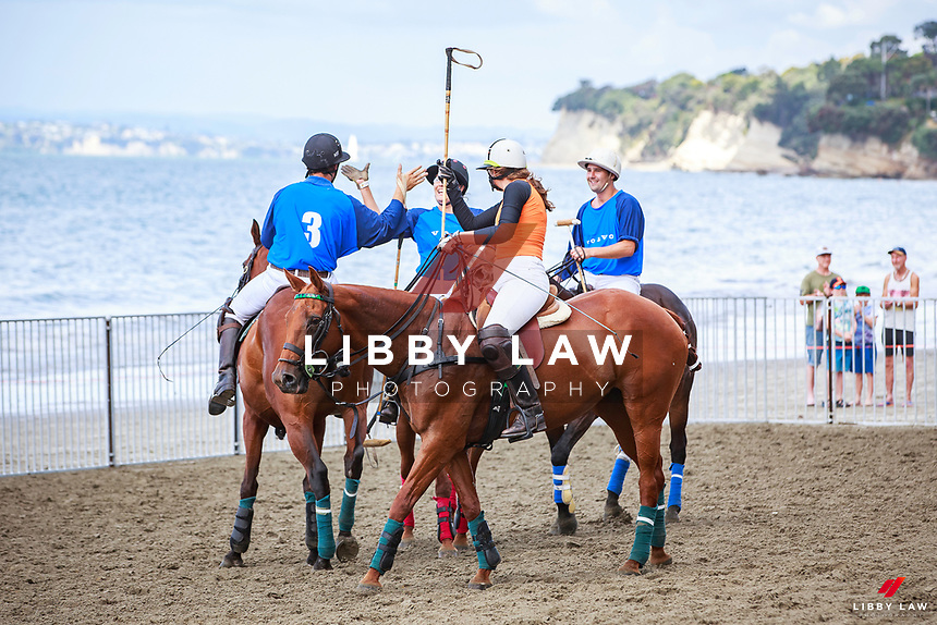 THE FINAL: Volvo takes the title against Seismic Performance. 2017 NZL-Takapuna Beach Polo. Gould Reserve. Takapuna. Auckland. Thursday 14 December. Copyright Photo: Libby Law Photography