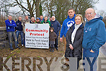 WE'LL FIGHT ON: Jim Browne (Committee member), Bridie Brassil (Secretary) and  Adrian O'Mahony (Committee Member) who along with locals from Fenit are organising a protest walk this Sunday 13th in Fenit to protest against the fencing erected stopping locals are visitors from gaining access around Fenit Island.