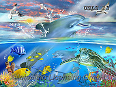 Lori, REALISTIC ANIMALS, REALISTISCHE TIERE, ANIMALES REALISTICOS, paintings+++++Dolphin Dance_1_72,USLS13,#A#, EVERYDAY ,puzzles