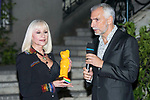 Italian singer Raffaella Carra receives the World Pride Award 2017 at Italian Embassy in Madrid, June 27, 2017. Spain.<br /> (ALTERPHOTOS/BorjaB.Hojas)
