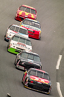 DAYTONA BEACH, FL - JUL 2, 1994:  Ernie Irvan leads the field in the #28 Ford Thunderbird during the Pepsi 400 NASCAR Winston Cup race at Daytona International Speedway, Daytona Beach, FL. (Photo by Brian Cleary/www.bcpix.com)