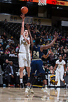 Elisa Penna (41) of the Wake Forest Demon Deacons shoots over Chanin Scott (24) of the Georgia Tech Yellow Jackets during first half action at the LJVM Coliseum on January 22, 2017 in Winston-Salem, North Carolina.  The Demon Deacons defeated the Yellow Jackets 70-65 in overtime.  (Brian Westerholt/Sports On Film)