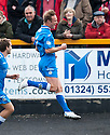Queen of the South's Iain Russell celebrates after he scores their first goal.
