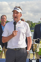 Ian Poulter (GBR) speaks during the trophy presentation following round 4 of the Houston Open, Golf Club of Houston, Houston, Texas. 4/1/2018.<br /> Picture: Golffile | Ken Murray<br /> <br /> <br /> All photo usage must carry mandatory copyright credit (&copy; Golffile | Ken Murray)