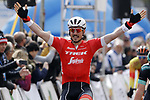 In only his second race start of the season John Degenkolb (GER) Trek-Segafredo made no mistake and sprinted to his 2nd victory taking the win in the Trofeo Palma, the final race of the Challenge Cyclista Mallorca. 28th January 2018.<br /> Picture: Luis Angel Gomez/Photogomezsport | Cyclefile<br /> <br /> <br /> All photos usage must carry mandatory copyright credit (© Cyclefile | Luis Angel Gomez/Photogomezsport)