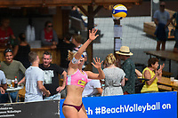 VADUZ, LIECHTENSTEIN, 10.08.2019- FIVB BEACH VOLLEYBALL WORLD TOUR: Emma Piersma da Holanda durante a partida das quartas de final a contar para o torneio FIVB Beach Volleyball World Tour Star1 na Beacharena, em Vaduz, Liechtenstein, nesse sabado 10. (Foto: Bruno de Carvalho / Brazil Photo Press)