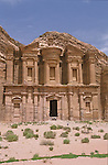 The facade of the Deir measure 49 m long and 39 m highThe Deir, buit on the top of a mountain is one of the most fascinating monument of Petra. Petra. Jordan