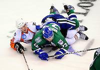 Connecticut Whale vs. Adirondack Phantoms AHL hockey action.  XL Center