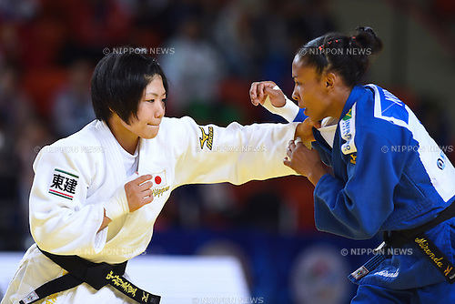 (L-R) Misato Nakamura (JPN), Erika Miranda (BRA), AUGUST 25, 2015 - Judo : World Judo Championships Astana 2015 Women's -52kg Semi-Final match at Alau Ice Palace in Astana, Kazakhstan. (Photo by AFLO SPORT)