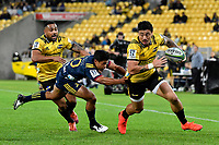 Hurricanes&rsquo; Ben Lam in action during the Super Rugby - Hurricanes v Highlanders at Westpac Stadium, Wellington, New Zealand on Friday 8 March 2019. <br /> Photo by Masanori Udagawa. <br /> www.photowellington.photoshelter.com
