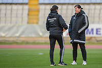 20190301 - LARNACA , CYPRUS : Hungarian head coach Marko Edina (right) pictured during a women's soccer game between Hungary and Italy , on Friday 1 March 2019 at the GSZ Stadium in Larnaca , Cyprus . This is the second game in group B for both teams during the Cyprus Womens Cup 2019 , a prestigious women soccer tournament as a preparation on the FIFA Women's World Cup 2019 in France . PHOTO SPORTPIX.BE | STIJN AUDOOREN