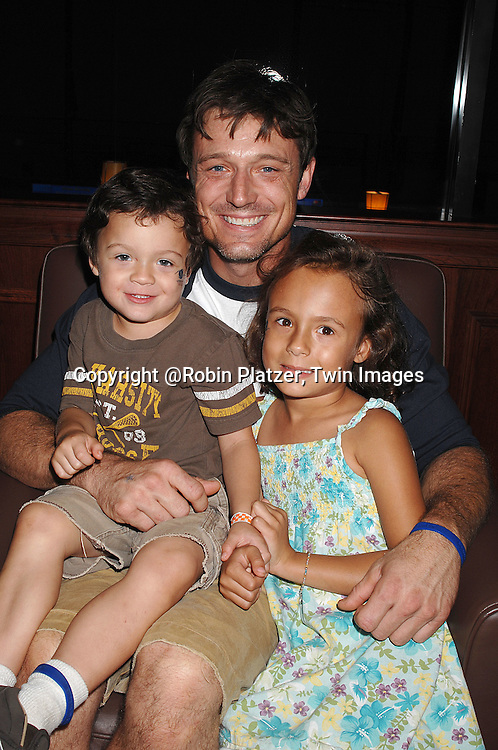 David Chisum and children Aiden and Zoie..at The Daytime Stars and Strikes Bowling Event benefitting The American Cancer Society on October 7, 2007 at ..Chelsea Piers Lanes. ..photo by Robin Platzer, Twin Images......212-935-0770