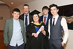 19/1/2015   (with compliments)  Attending the University of limerick conferrings on Monday afternoon was Majella O'Gorman conferred with an MBA (Corporate) with her husband Tom Feeney and their sons Eoin, Conor and Brian Feeney all from Castletroy.    Picture Liam Burke/Press 22