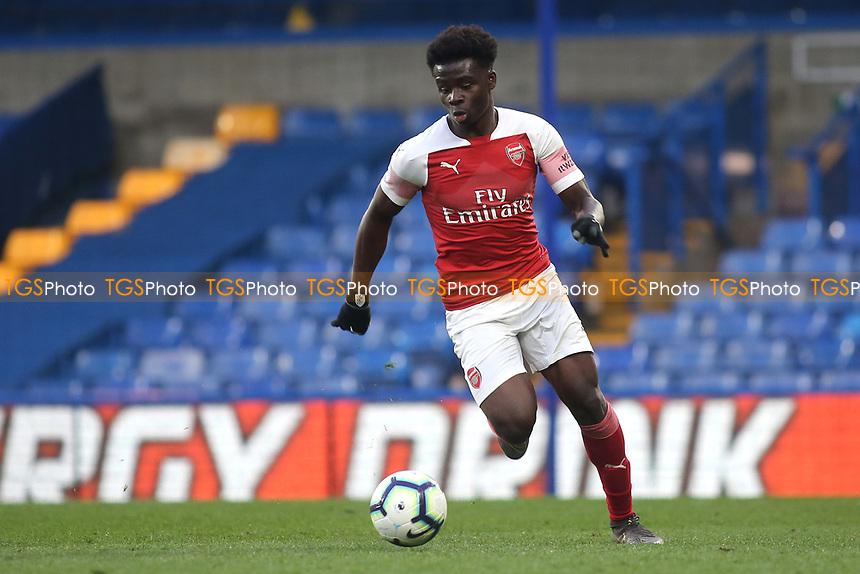 Bukayo Saka of Arsenal in action during Chelsea Under-23 vs Arsenal Under-23, Premier League 2 Football at Stamford Bridge on 15th April 2019
