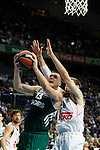 Basketball Real Madrid´s Nocioni (R) and Zalgiris Kaunas´s Jankunas during Euroleague basketball match in Madrid, Spain. October 17, 2014. (ALTERPHOTOS/Victor Blanco)