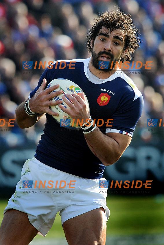 Yoann Huget (Francia)<br /> Italia vs Francia  22-21<br /> RBS 6 Nations Rugby Championship 2011<br /> Stadio Flaminio;<br /> Roma, 12/03/2011<br /> Photo Antonietta Baldassarre Insidefoto
